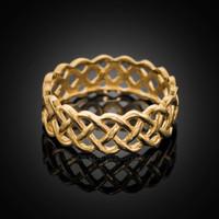 14k Gold Celtic Weave Wedding Band