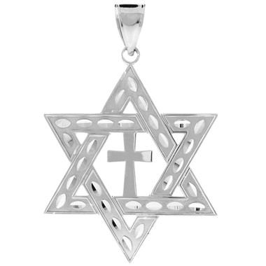 White gold jewish star of david cross pendant white gold jewish star of david cross pendant l 22 aloadofball Gallery