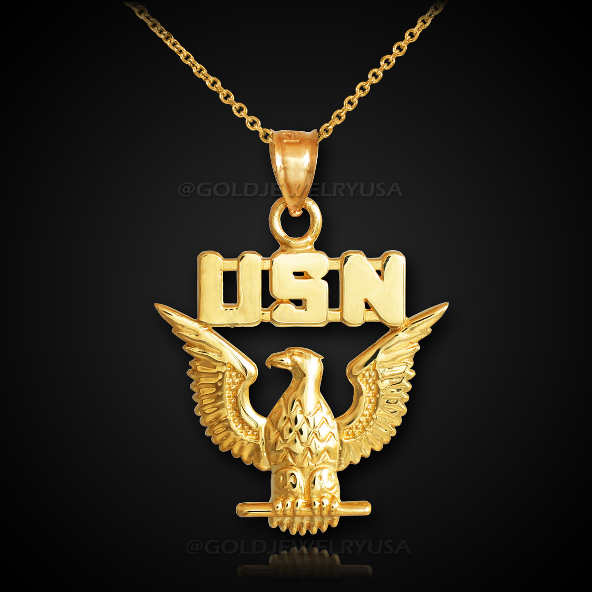 Gold us navy usn pendant necklace aloadofball Choice Image