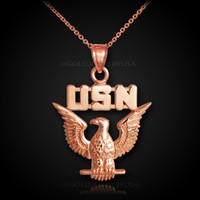 Rose gold US Navy necklace.