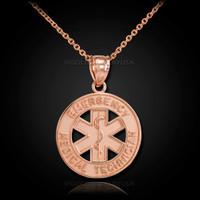 Rose-gold EMT necklace