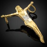 Gold Jesus Crucifix Pendant