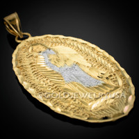 Gold Virgin Mary Guadalupe Hip-Hop Pendant