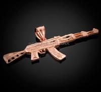 Rose Gold AK-47 Pendant.