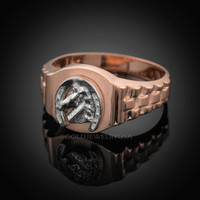 Rose Gold Horseshoe ring.