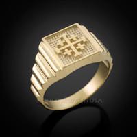 Gold Jerusalem 'Crusaders' Cross Ring