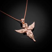 Rose Gold Angel Necklace