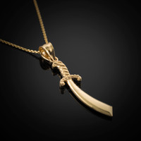 Gold Islamic Sword Necklace
