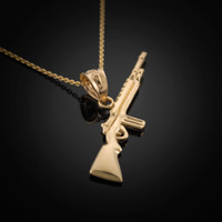 Gold Rifle Necklace