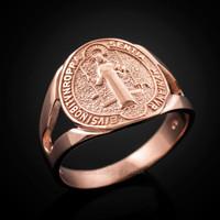 Rose Gold Saint Benedict Ring