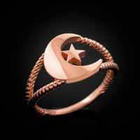 Rose gold Islamic ring