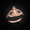 Rose gold anchor ring.