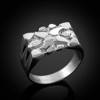 White Gold Nugget Ring