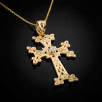 Gold Armenian Cross Necklace