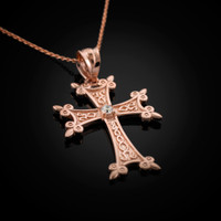 Rose Gold Armenian Cross Charm