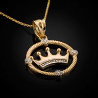 Gold Quinceanera necklace. Diamond Quinceanera pendant.