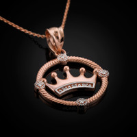 Rose gold quinceanera necklace