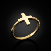 Gold Greek Cross Ring