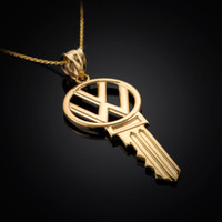Gold VW Volkswagen Necklace