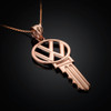 Rose Gold VW Charm Necklace
