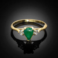 Emerald Stackable Promise Ring