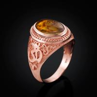 Rose gold Om ring