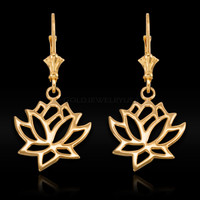 Gold Lotus Earrings