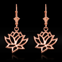 Rose Gold Lotus Earrings