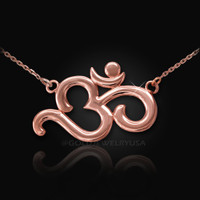 Rose Gold Om (aum) necklace