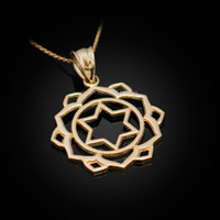 Gold Anahata Love Chakra Yoga Pendant Necklace