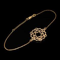 14K Gold Anahata Love Chakra Yoga Bracelet
