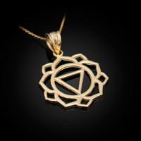 Gold Manipura Chakra Yoga Pendant Necklace