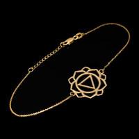 14K Gold Manipura Chakra (Confidence) Womens Yoga Bracelet