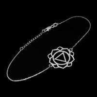 14K White Gold Manipura (Confidence) Chakra Womens Yoga Bracelet