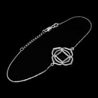 14K White Gold Muladhara Chakra Womens Yoga Bracelet Bracelet