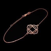 14K Rose Gold Muladhara Chakra Womens Yoga Bracelet Bracelet