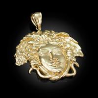 Polished Gold Medusa Pendant (S/M/L)