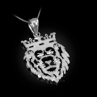 White Gold Lion King DC Charm Necklace