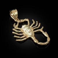Yellow Gold Scorpion DC Pendant