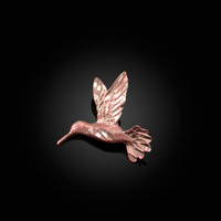 Rose Gold Flying Hummingbird DC Charm Necklace