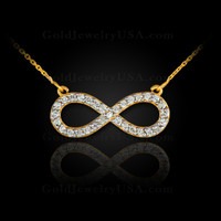 Gold Infinity Diamond Necklace