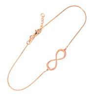 14K Dainty Rose Gold Infinity Bracelet