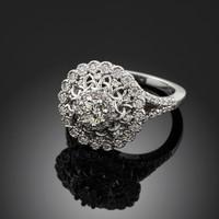 14K White Gold Celtic Knot Diamond Engagement Ring
