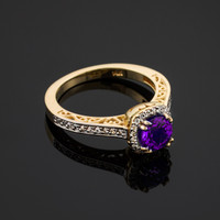 Amethyst engagement ding