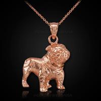 Rose Gold Bulldog Necklace