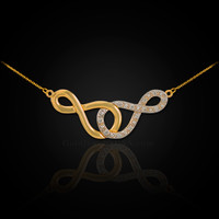 Double Infinity Necklace with Diamonds