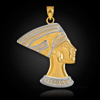 Gold Queen Nefertiti Pendant.