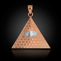 Two-Tone Rose Gold Illuminati Pyramid Pendant