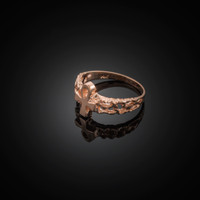 Rose Gold Ankh Cross Ring