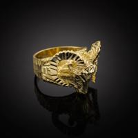 Gold Mountain Ram Ring